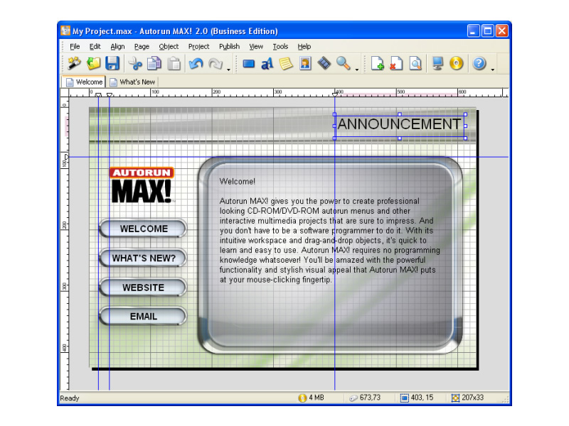 Click to view Autorun MAX 2.1.2.0 screenshot